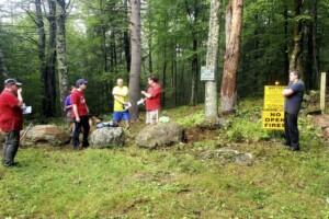 NQTA Trail Crew Cleans Up Bearsden Trailhead image